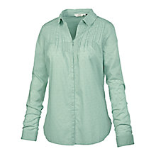Buy Fat Face Pretty Broderie Cotton Shirt, Frost Green Online at johnlewis.com