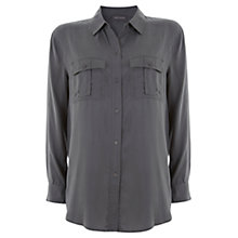 Buy Mint Velvet Relaxed Shirt, Green Online at johnlewis.com