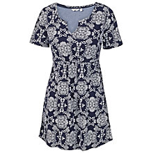 Buy Fat Face Falmouth Dotty Floral Tunic Cotton Dress, Indigo Online at johnlewis.com