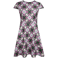 Buy Ted Baker Crochet Geometric Print Dress, Grape Online at johnlewis.com