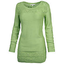 Buy Fat Face Pointelle Tunic Dress, Green Tea Online at johnlewis.com