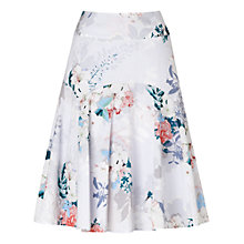 Buy Phase Eight Mariah Floral Cotton Skirt, Grey/Pink Online at johnlewis.com