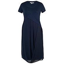 Buy Chesca Chiffon Jersey Dress, Navy Online at johnlewis.com