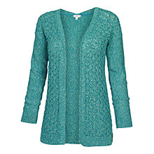 Buy Fat Face Luella Twisted Cotton Cardigan, Ocean Tide Online at johnlewis.com