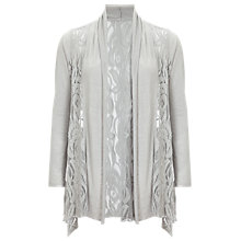 Buy Phase Eight Leona Lace Cardigan, Silver Online at johnlewis.com