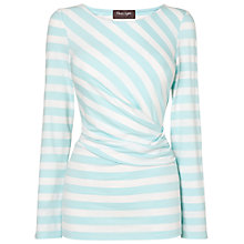 Buy Phase Eight Flora Fitted Top, Aqua/White Online at johnlewis.com