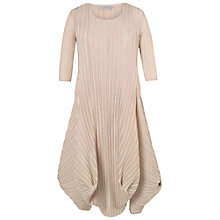 Buy Chesca Crush Pleated Drape Dress, Chamapagne Online at johnlewis.com