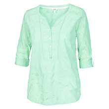 Buy Fat Face Whiteley Broderie Popover Top Online at johnlewis.com