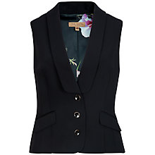Buy Ted Baker Crepe Suit Waistcoat, Black Online at johnlewis.com