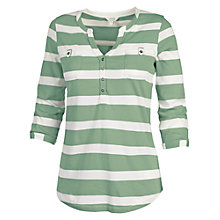 Buy Fat Face Wickham Stripe Popover Top, Green Tea Online at johnlewis.com
