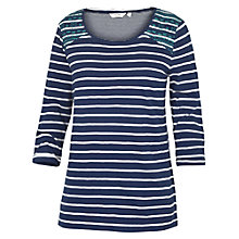 Buy Fat Face Stripe Embroidered Cotton Top Online at johnlewis.com
