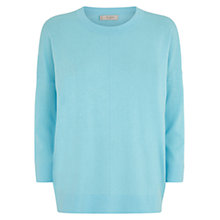 Buy Hobbs Eva Jumper, Light Kingfisher Online at johnlewis.com