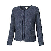 Buy Fat Face Ann Knit Jacket, Indigo Online at johnlewis.com