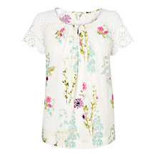 Buy Phase Eight Hermosa Print Blouse, Ivory/Multi Online at johnlewis.com