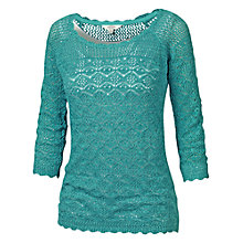 Buy Fat Face Filey Crochet Two Layer Top, Ocean Tide Online at johnlewis.com