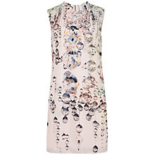 Buy Ted Baker Sapira Crystal Droplets Print Dress, Nude Pink Online at johnlewis.com