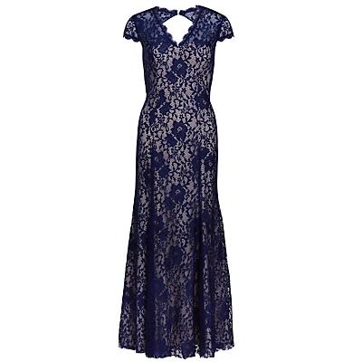 Gina Bacconi Long Lace Dress, Navy