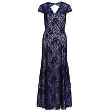 Buy Gina Bacconi Long Lace Dress, Navy Online at johnlewis.com