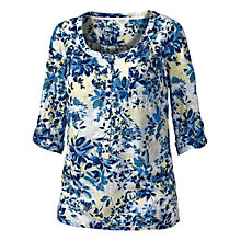 Buy Fat Face Newbury Abstract Popover Top, Multi Online at johnlewis.com