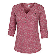 Buy Fat Face Wickham Creeping Vine Popover Cotton Top, Rose Online at johnlewis.com
