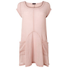 Buy Phase Eight Mallory Linen Blouse, Pale Pink Online at johnlewis.com