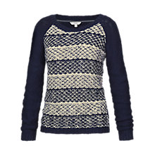 Buy Fat Face Tuck Stitch Stripe Billie Cotton Jumper, Multi Online at johnlewis.com
