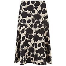 Buy Hobbs Linen Nadene Skirt, Natural/Black Online at johnlewis.com