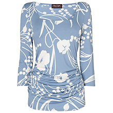 Buy Phase Eight Clem Print Top, Pale Denim Online at johnlewis.com