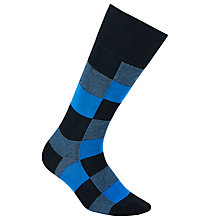 Buy BOSS Colour Block Cotton Rich Socks, Blue Online at johnlewis.com