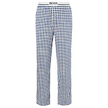 Buy BOSS Check Cotton Jersey Pyjama Bottoms, Navy Online at johnlewis.com