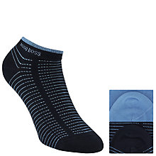 Buy BOSS Stripe Trainer Socks, Pack of 2, Black/Blue Online at johnlewis.com
