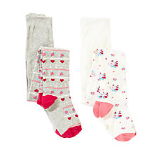 Buy John Lewis Girl Vintage Floral Tights, Multi Online at johnlewis.com