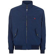 Buy Hackett London Harry Classic Harrington Jacket, Navy Online at johnlewis.com