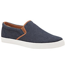 Buy John Lewis Slip-On Contrast Trim Canvas Trainers Online at johnlewis.com