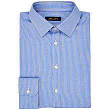 Buy Jaeger Fine Stripe Modern Shirt, Blue Online at johnlewis.com