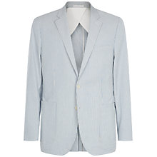 Buy Jaeger Seersucker Modern Blazer, Pale Blue Online at johnlewis.com
