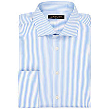 Buy Jaeger Wide Stripe Classic Shirt, Blue Online at johnlewis.com
