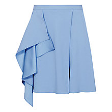 Buy Reiss Diletta Side Drape Skirt, Venetian Blue Online at johnlewis.com