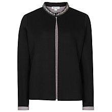 Buy Reiss Courtney Neoprene Jacket, Black Online at johnlewis.com