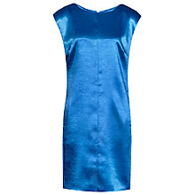 Buy Reiss Metallic Fava Shift Dress, Blue Online at johnlewis.com