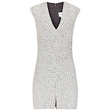 Buy Reiss Jeanette Jacquard Playsuit, Black/White Online at johnlewis.com