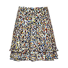 Buy Reiss Ilona Print Flared Skirt, Mercury/Multi Online at johnlewis.com