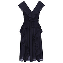 Buy Reiss Sophie Pleated Dress, Midnight Online at johnlewis.com