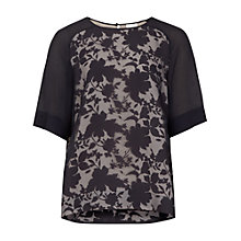 Buy Reiss Spiral Lace Top, Night Navy Online at johnlewis.com