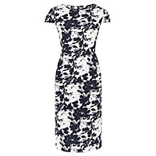 Buy Viyella Petite Floral Crepe Dress, Navy Online at johnlewis.com