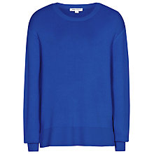 Buy Reiss Cleo Step Hem Jumper, Serpentine Online at johnlewis.com