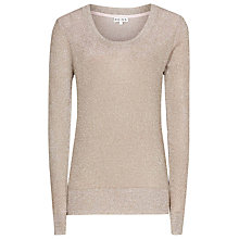 Buy Reiss Metallic Jumper, Sugar Shimmer Online at johnlewis.com