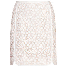 Buy Reiss Nagomi Lace Skirt, Ivory/Apricot Online at johnlewis.com
