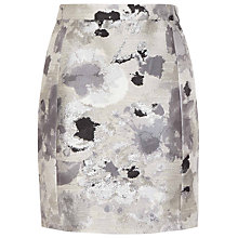 Buy Reiss Malika Jacquard Skirt, Silver Online at johnlewis.com
