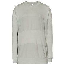 Buy Reiss Kristin Silk Panel Jumper, Verte Online at johnlewis.com